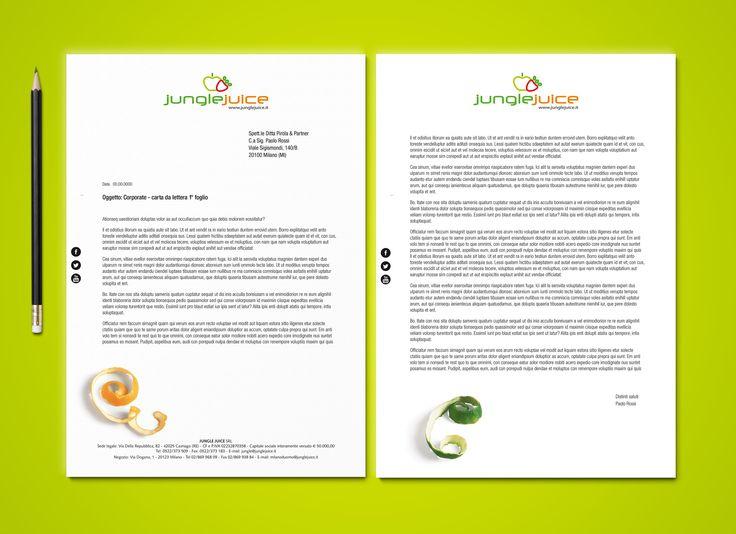 Junglejuice letterhead. Design by Tiziana Moretti