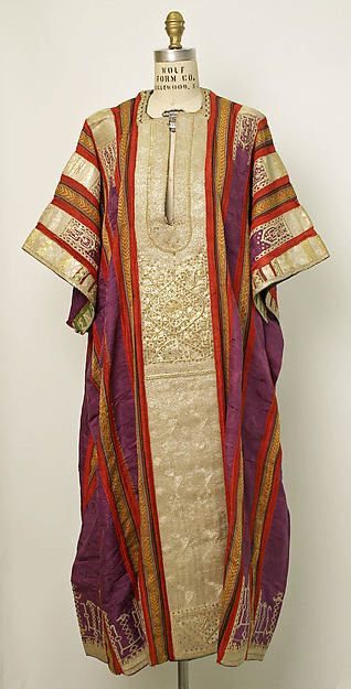 Bridal finery includes an embroidered wedding tunic (Tunisia, late 19th–early 20th century)