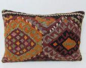 16x24 kilim pillow lumbar kilim floor pillow floor cushion cover tribal cushion primitive decor contemporary pillow floral pillow case 24990