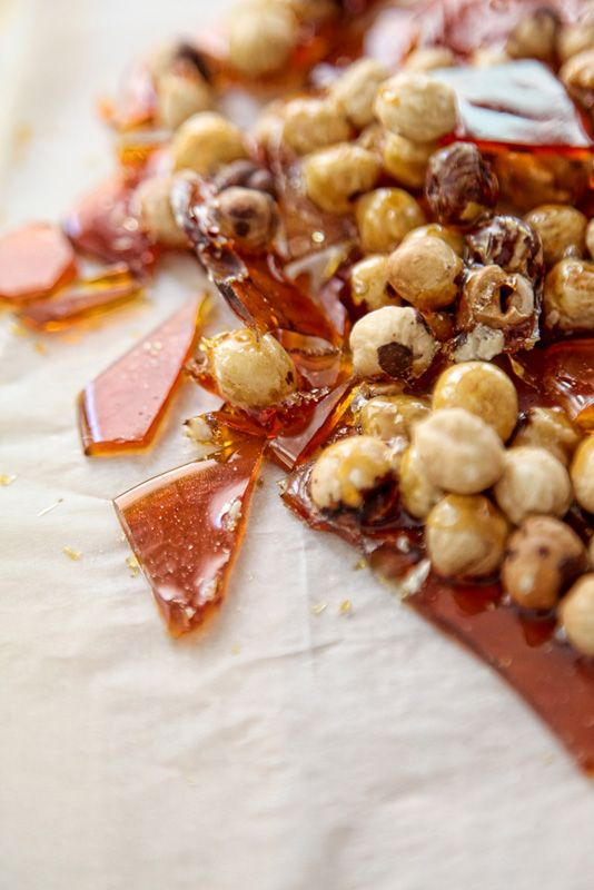 caramelized huzelnuts