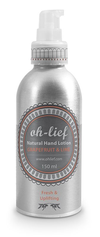 Natural Hand Lotion - Lavender & Roman Chamomile soothes and softens. Grapefruit & Lime nourishes and refreshes.