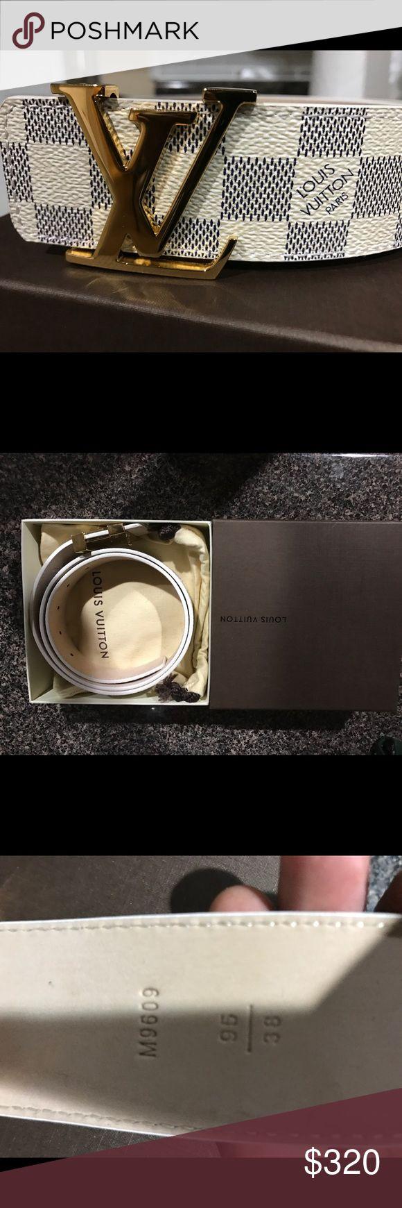 AUTHENTIC LOUIS VUITTON DAMIER AZUR BELT BUCKLE BRAND NEW AUTHENTIC LOUIS VUITTON DAMIER AZUR BELT BUCKLE SIZE 95/38 Louis Vuitton Accessories Belts