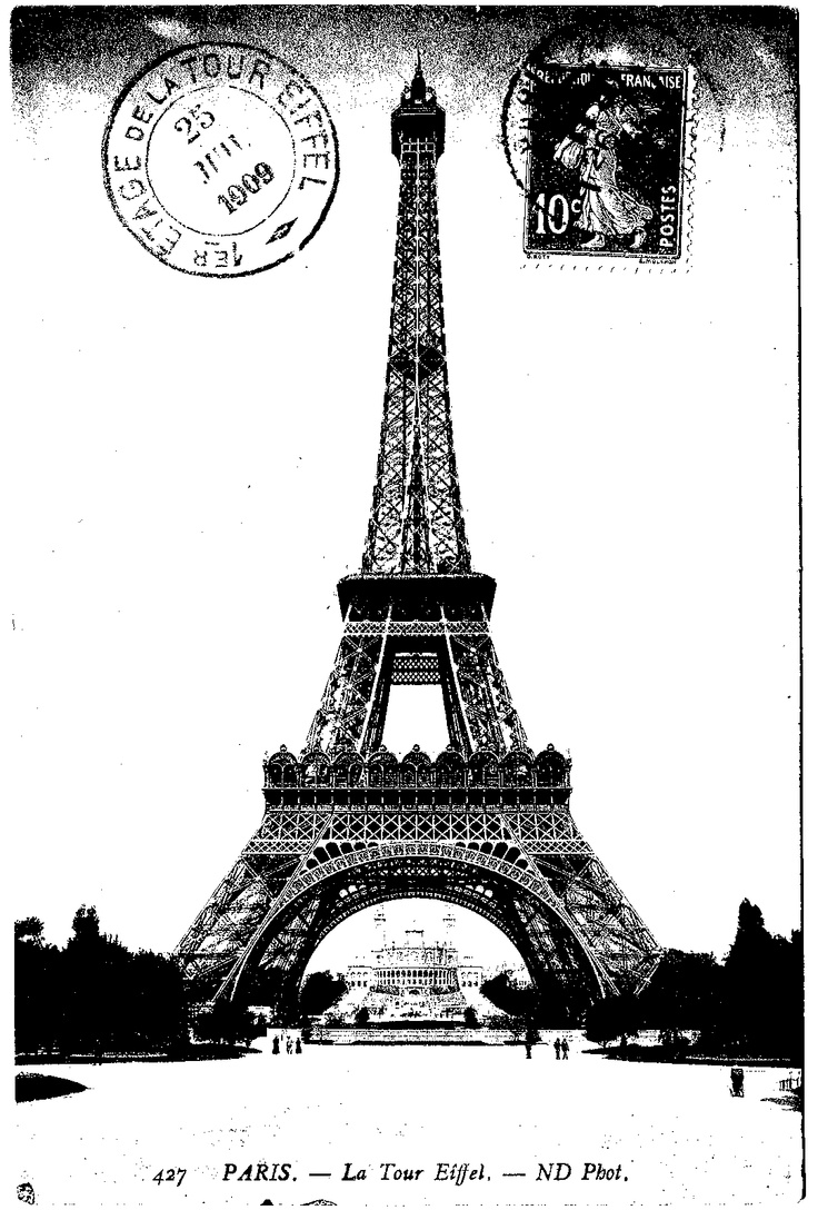 black and white Eiffel tower printable | Clip Art ...
