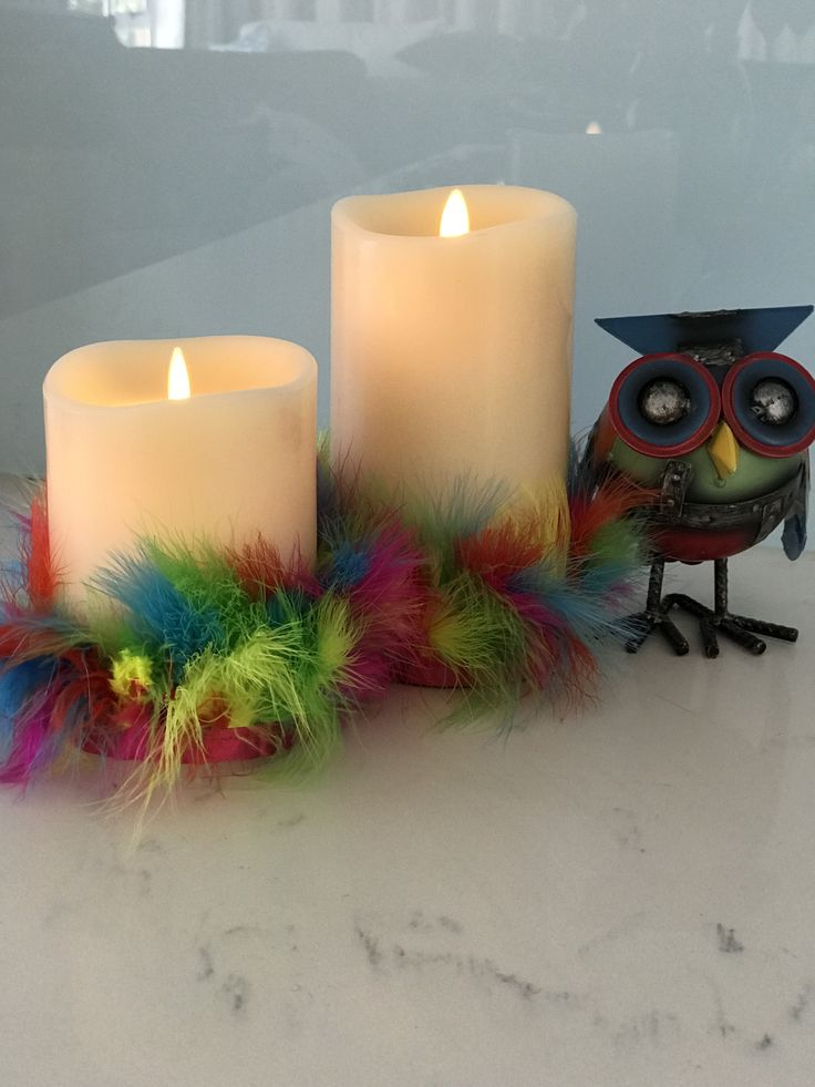 Having a theme party?  Why not dress your candles to add to the fun