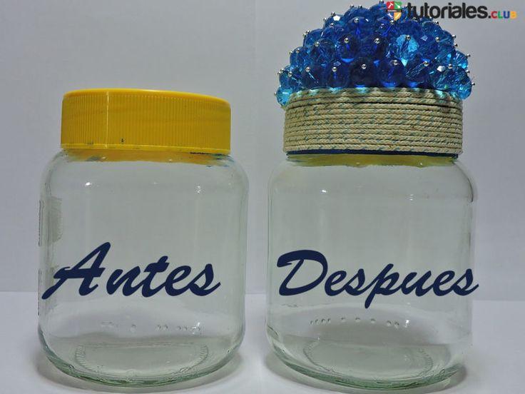 Como decorar frascos de vidrio reciclados