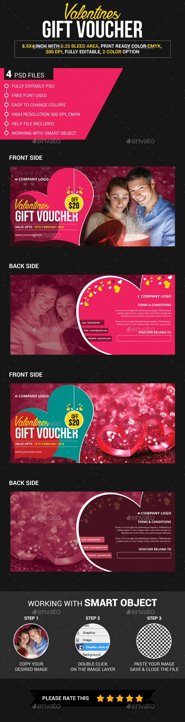 The 25 best voucher template free ideas on pinterest free gift this is a valentine gift voucher which is fully editable pack included 4 psd xflitez Choice Image