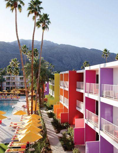 The Saguaro: Saguaro Hotels, Bright Color, Palm Springs, Hotels California, Rainbows, Palms Spring California, Architecture, Colour Palettes, Dreams Destinations