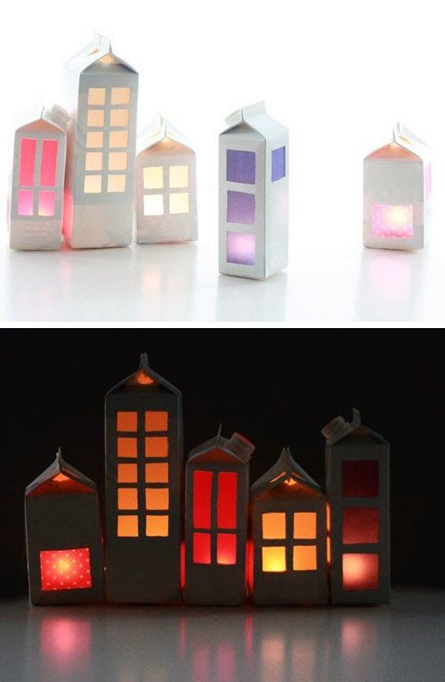 mommo design: WINTER VILLAGES - milk carton