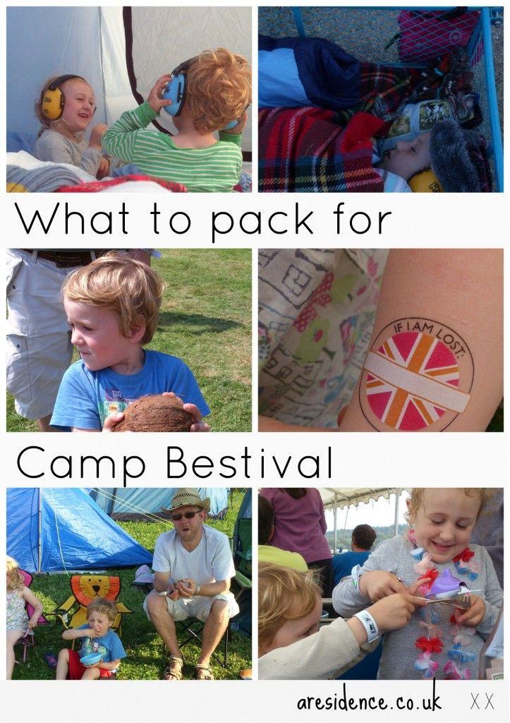 Camp Bestival family festival packing list