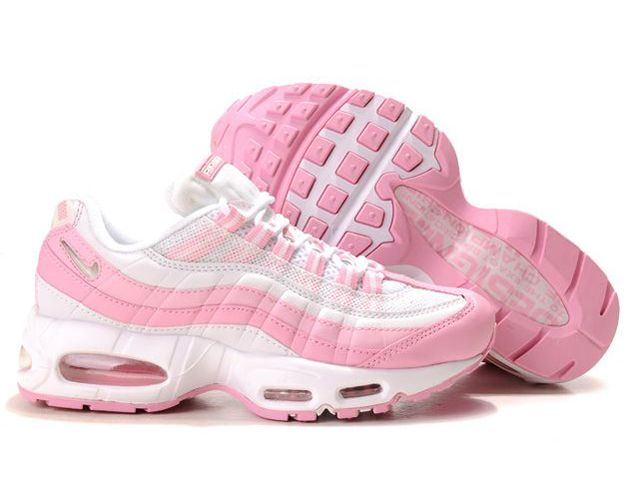 Chaussures Nike Air Max 95 Blanc/ Rose/ Argent [nike_11330] - €53.95 : Nike Chaussure Pas Cher,Nike Blazer and Timerland https://www.facebook.com/pages/Chaussures-nike-originaux/376807589058057 www.topchausmall.com