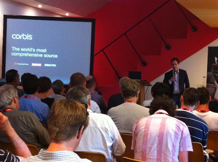Gary Shenk, CEO Corbis talks about partnering with Demotix at Perpignan Visa pour l'Image 2011