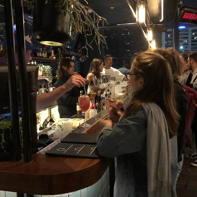 #rooftop in #melbournesustralia. A hard to find bar in the same building as the fantastic Thai restaurant #cookie at 252 Swanston Street in the city. Its an amazing building with plenty of different bars for drinking and chilling out.