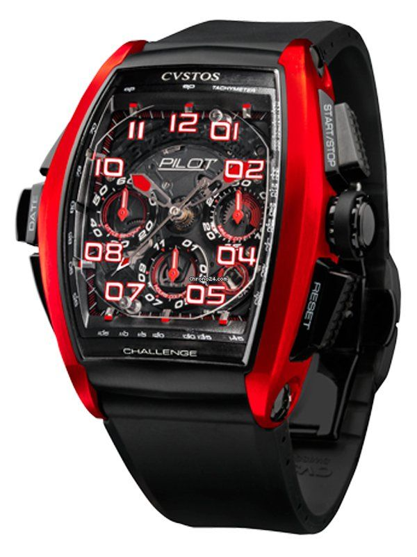 Cvstos Challenge $17,000 chronograph titanium case with rubber bracelet and automatic movement