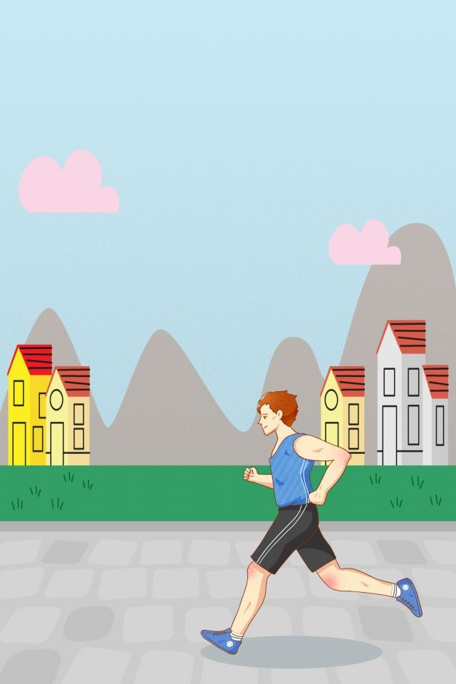 Carroceria De Otono Dibujos Animados Pintados A Mano Deportes Al Aire Libre Creativos Ejecutando Un Poster Cayendo En El Deportes Al Aire Libre Diseno Banner Dibujos Animados