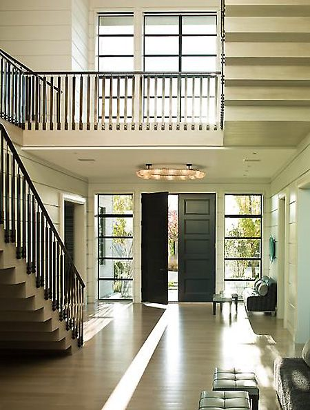 Foyer Staircase Quest : Best black window frames and doors images on pinterest