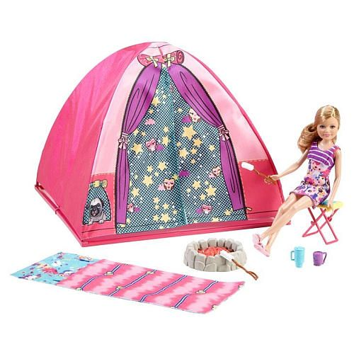 "Barbie Sisters Camp Out Stacie Doll and Tent Playset - Mattel - Toys ""R"" Us"