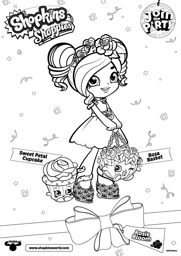 Shoppies Coloring Pages SHOPKINS