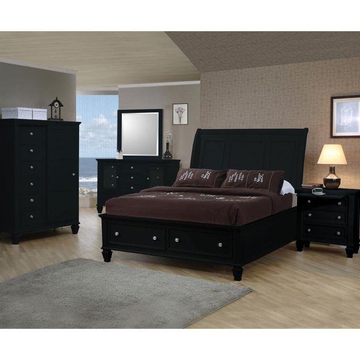 Nicholson 6 Piece Black Bedroom Set (Nicholson 6 PC Black Queen Set)