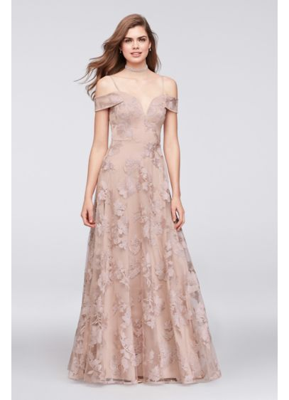 19330ca288c Long A-Line Off the Shoulder Formal Dresses Dress - City Triangles ...