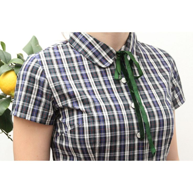 50's Claudine collar, ninon retro spring collection! Scottish checks