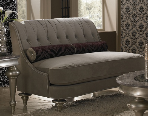 AI 03864 TAUPE 05 AICO Hollywood Swank Settee $1349.00