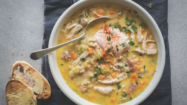 Serve this robust soup, laden with bacon and lentils, with crispy ciabatta for a meal full of goodness.