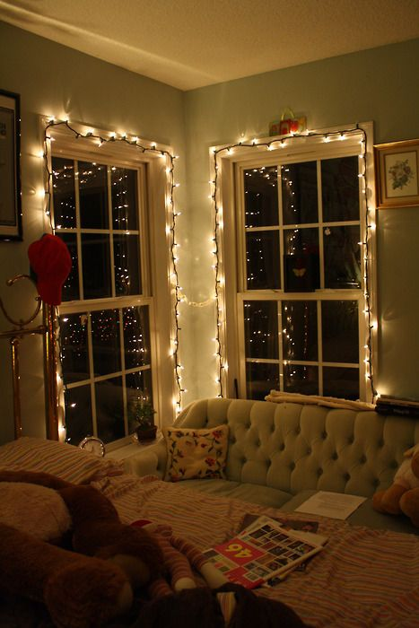 Best Christmas Lights Bedroom Ideas On Pinterest Christmas - Xmas lights in bedroom