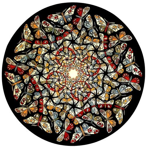 Escher Kaleidoscope; the longer you look more and more patterns emerge