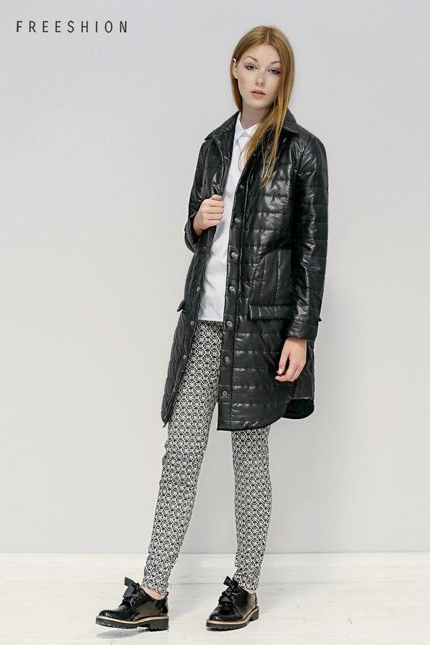 Britta czarna S - pikowana kurtka od Freeshion - Freeshion - Płaszczyki