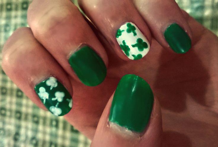 My St Patricks Day nails! #nail #StPatricksDay #Paddy #green