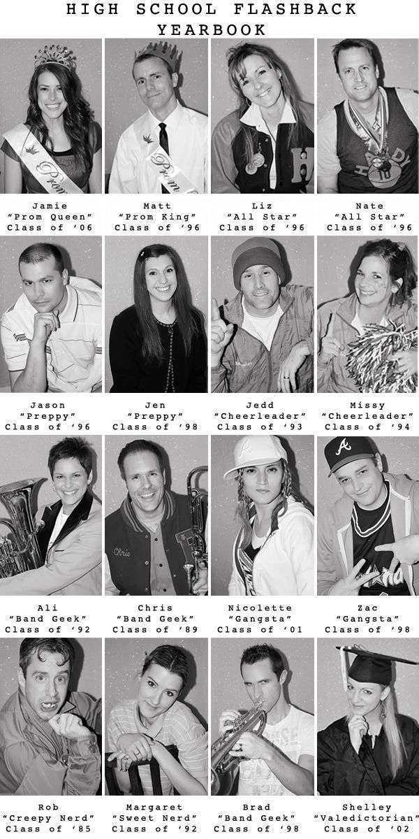 High School Flashback Party – Yearbook Photos! What a fun and hilarious idea!!