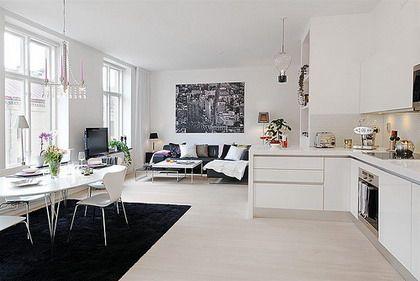 cocina sala comedor integrados pequeños - Buscar con Google