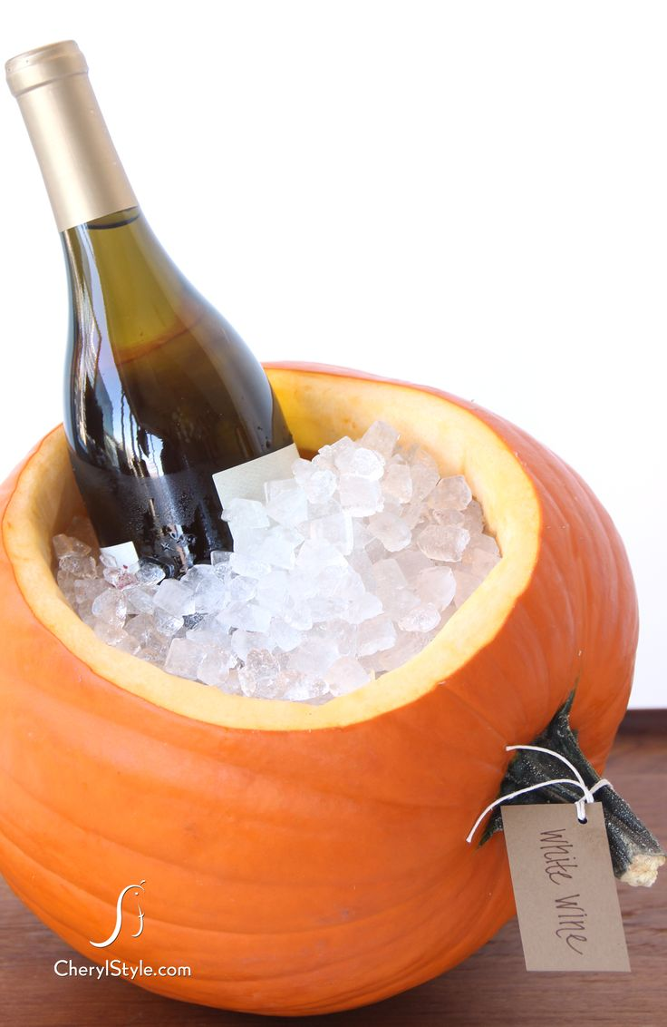  How-To Make a Pumpkin Ice Cooler on http://www.cherylstyle.com  