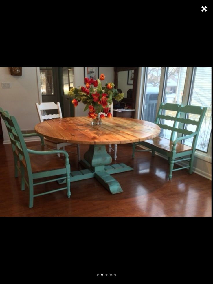 Table With Benches Kitchen Pinterest Farmhouse Ideas