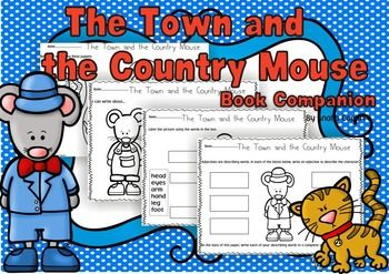 With this download you learn about The Town Mouse and the Country Mouse Its a great print and go back for school or home! With 50 pages of printables, your life will be made easier by just printing off the worksheets you need to teach the lesson. The Town Mouse and the Country Mouse product focuses on the following skills or concepts: identifying important events, retell, graphic organizers, vocabulary, illustrations, details, KWL, plot, sequence, descriptions, characters, key details…