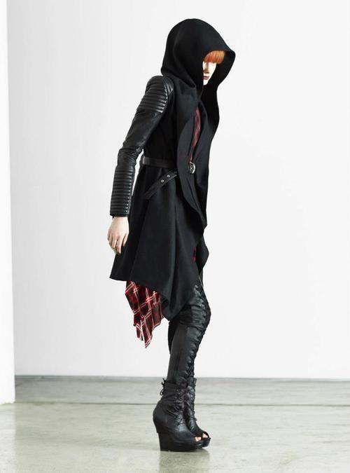 Cyberpunk Fashion, Dark Fashion, SKINGRAFT - A/W 2013-14 Not a fan of those heals though: my cyberpunk is generally more functional.