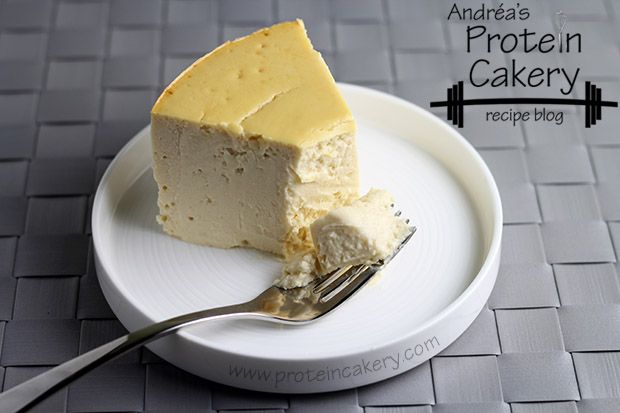 Aunt Chubby's Protein Cheesecake - Andréa's Protein Cakery #highprotein #baking