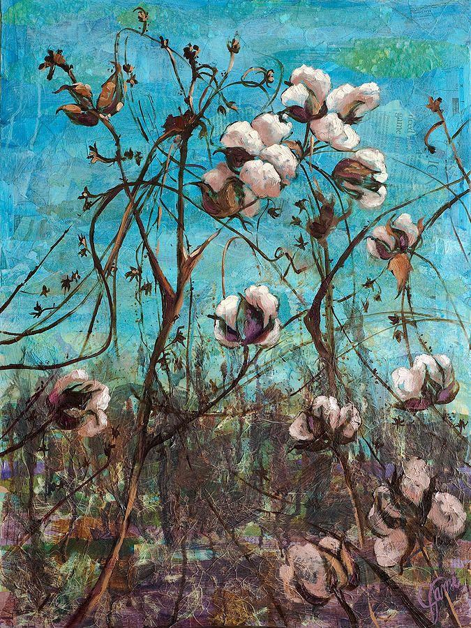 cotton plant art | Georgia Cotton Painting