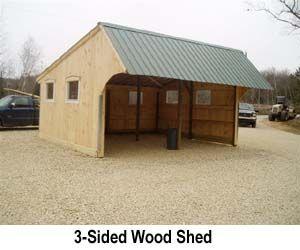 3 Sided Wood Shed Alpacas Pinterest