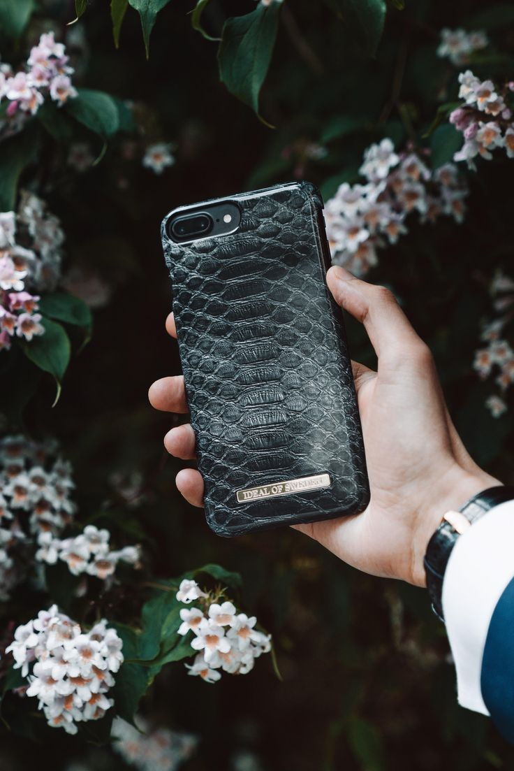 Black Reptile by @antonflensburg - Fashion case phone cases iPhone inspiration iDeal of Sweden #reptile #black #accessories #phonecase #classy #iphone #gold