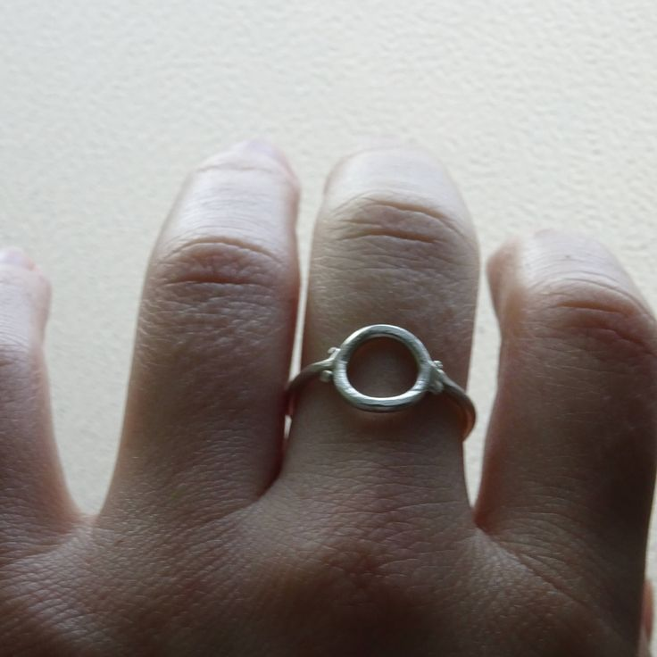 Minimalistic Round  Silver ring by RingRosa on Etsy