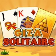 Giza solitaire is a difficult varation on the classic Pyramid Solitaire game. Combine 2 cards to a total value of thirteen (13) to remove the cards from the playing field. A Jack (J) is 11 points, a Queen (Q) is 12 points and a King (K) is 13 points. A king can be removed on its own.