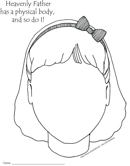{ Mormon Share } Heavenly Father has a Body - Girl | The o ...