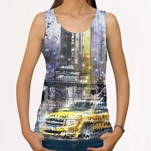 City-Art NYC Collage All Over Print Tanks by Melanie Viola