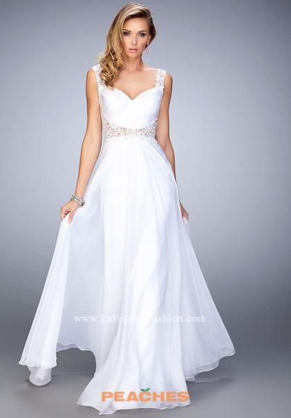 La Femme Long Chifon Dress 21550