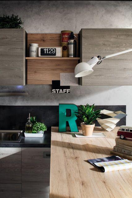Essenze rovere per la cucina più metropolitana di Gicinque Cucine: modello Oslo
