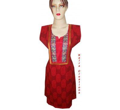 #Wonderful #Indian #Traditional #Red #Flared #Kurta #Kurti #For #Girl #And #Ladies http://kalracreations.com/handmade/ladies-kurtees-kurta/indian-traditional-red-flared-kurta-kurti-for-girl-and-ladies.html