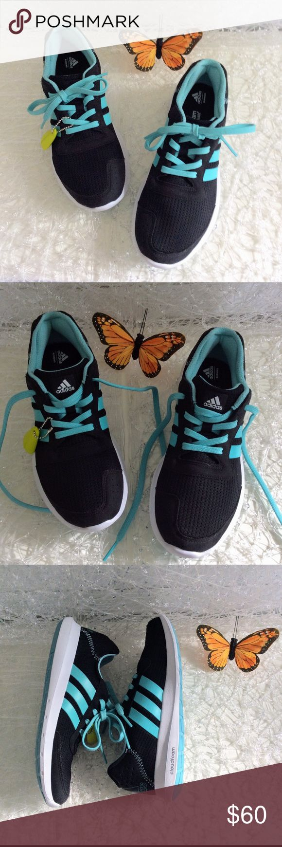NWOT Adidas Cloud Foam Running Sneakers 7.5 Perfect lightweight and comfy running sneakers from Adidas. Brand New never worn without tags in mint condition. Size 7.5 adidas Shoes Sneakers