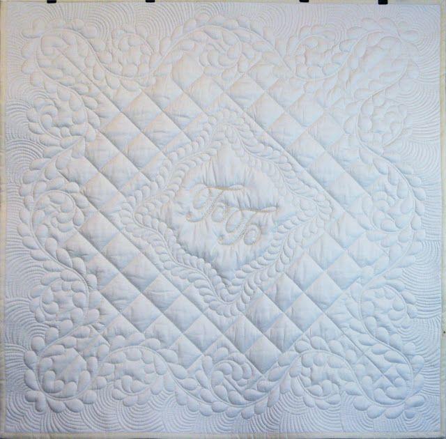 Cotton art: Одеяло с инициалами малыша