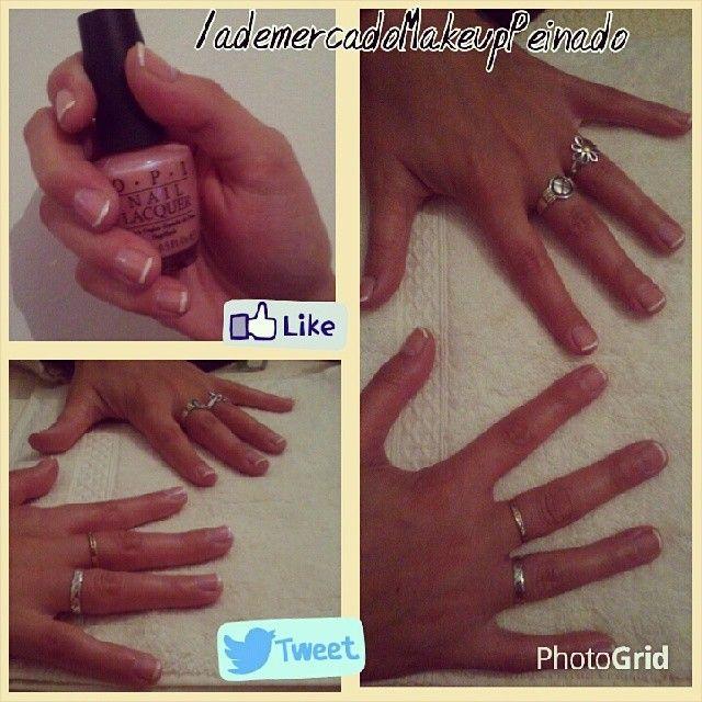 Manicure con francesitas para Meli con esmaltes #OPI #lovenails